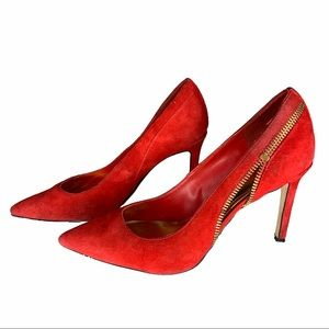 Marc Fisher Red Suede Pumps Size 7